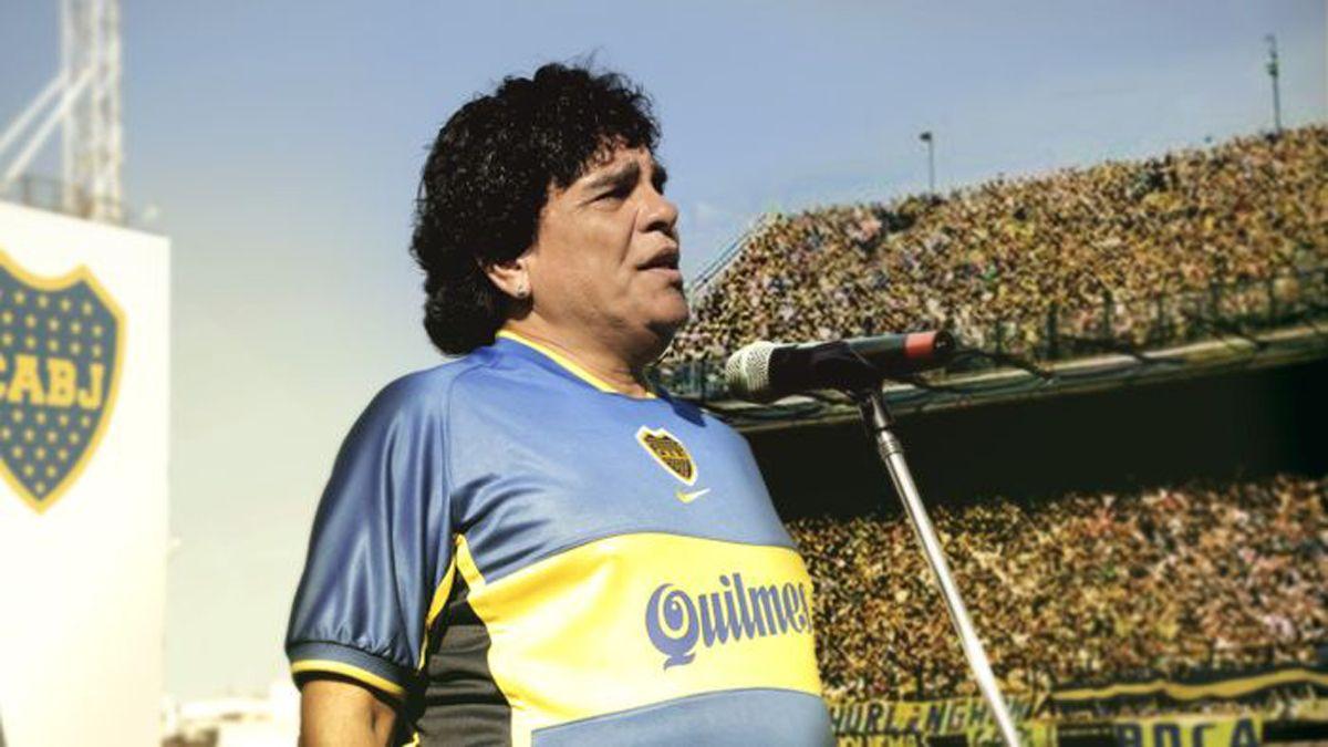 Juan Palomino es el encargado de ser Maradona en su partido despedida en la Bombonera.