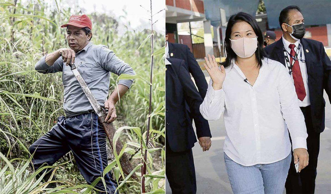 Perú se encaminaba a un ballotage entre el sindicalista de izquierda Pedro Castilo y la populista de derecha Keiko Fujimori con el 90% de mesas escrutadas.