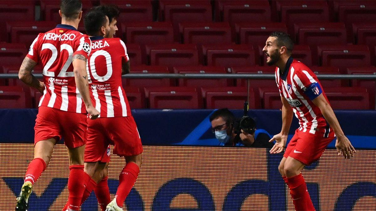 Atlético de Madrid le ganó a Salzburgo como local.