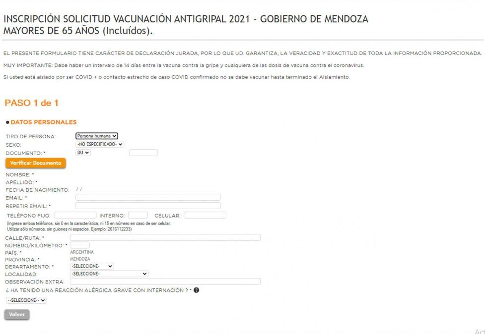 Cómo es la inscripción de la vacuna antigripal en Mendoza