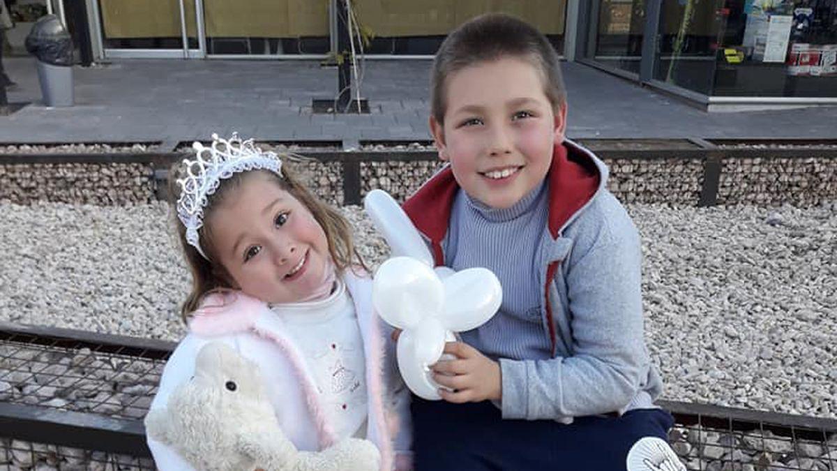 Agustín y Abril Kruk tenían 7 y 3 años cuando fueron atropellados en diciembre de 2018.