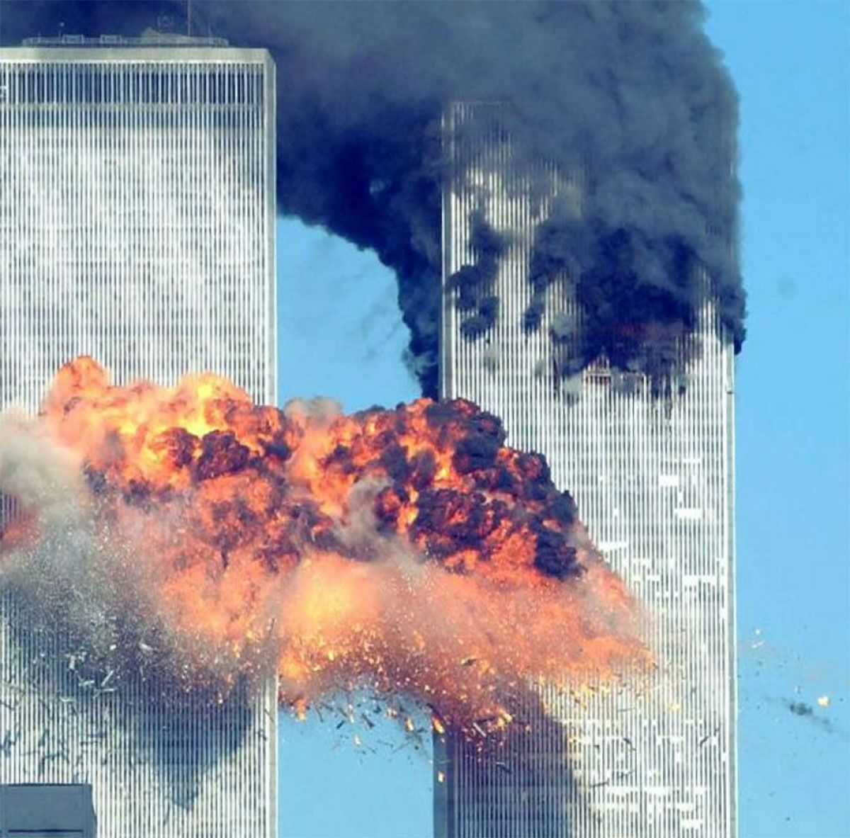 Una de las fotos inéditas que el Servicio secreto publicó del atentado a las Torres Gemelas del pasado 11 de septiembre de 2001