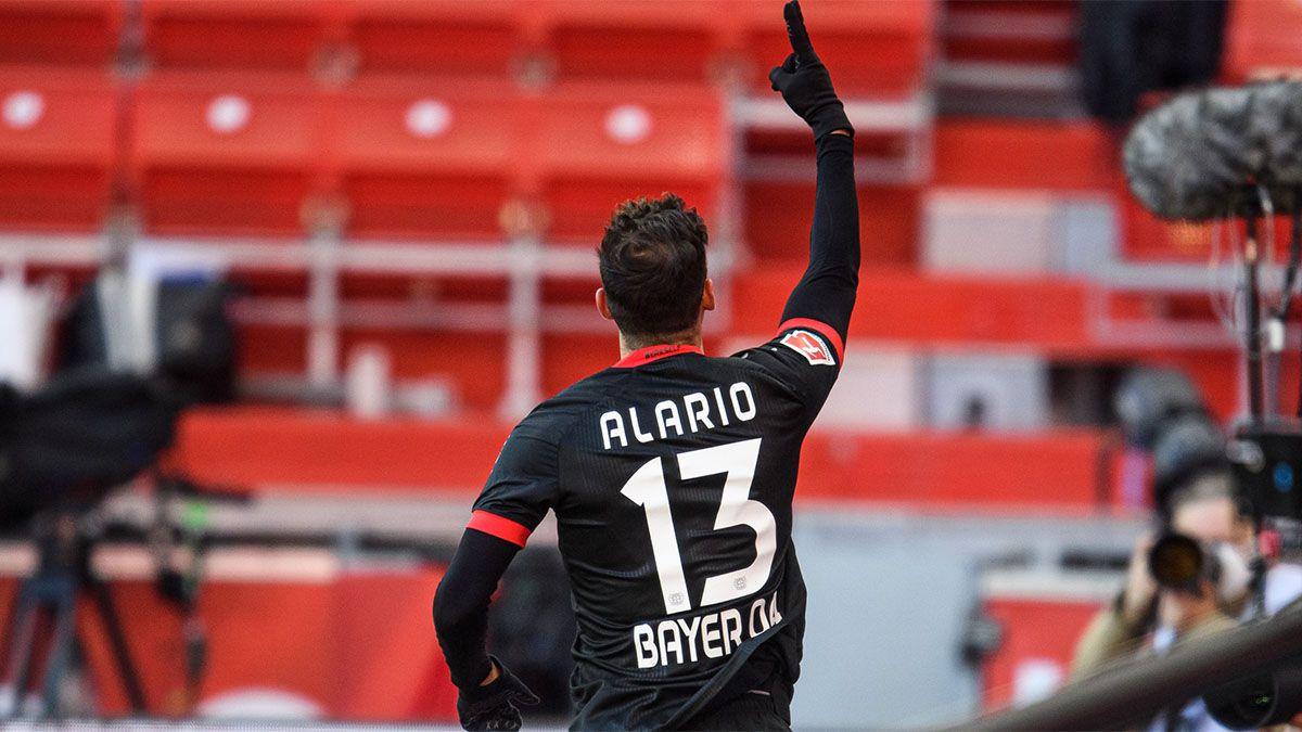 Lucas Alario hizo un gol, pero Leverkusen empató
