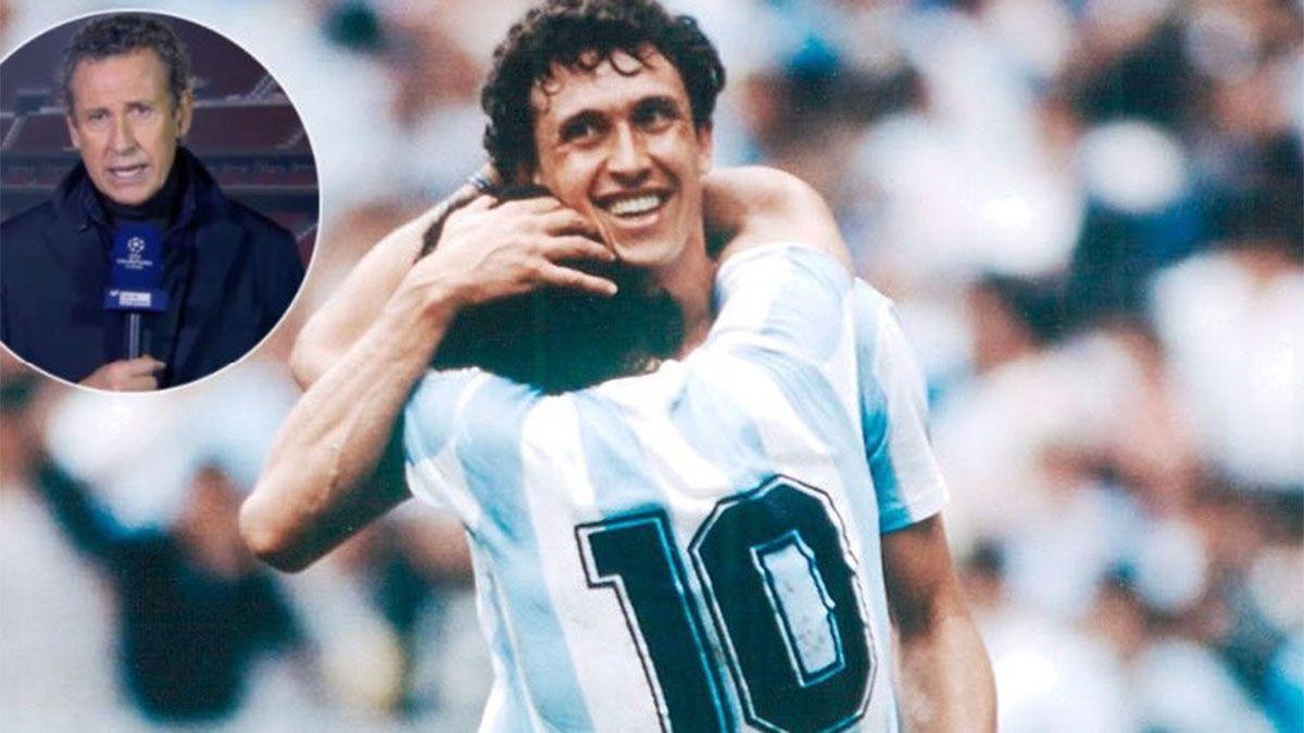 Valdano rompió en llanto cuando recordó a Maradona