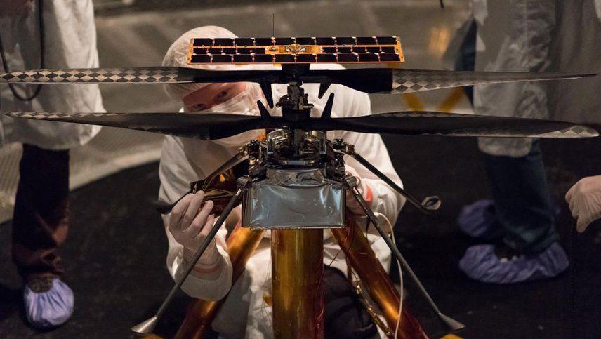 La NASA enviará por primera vez un helicóptero a Marte a bordo de un robot
