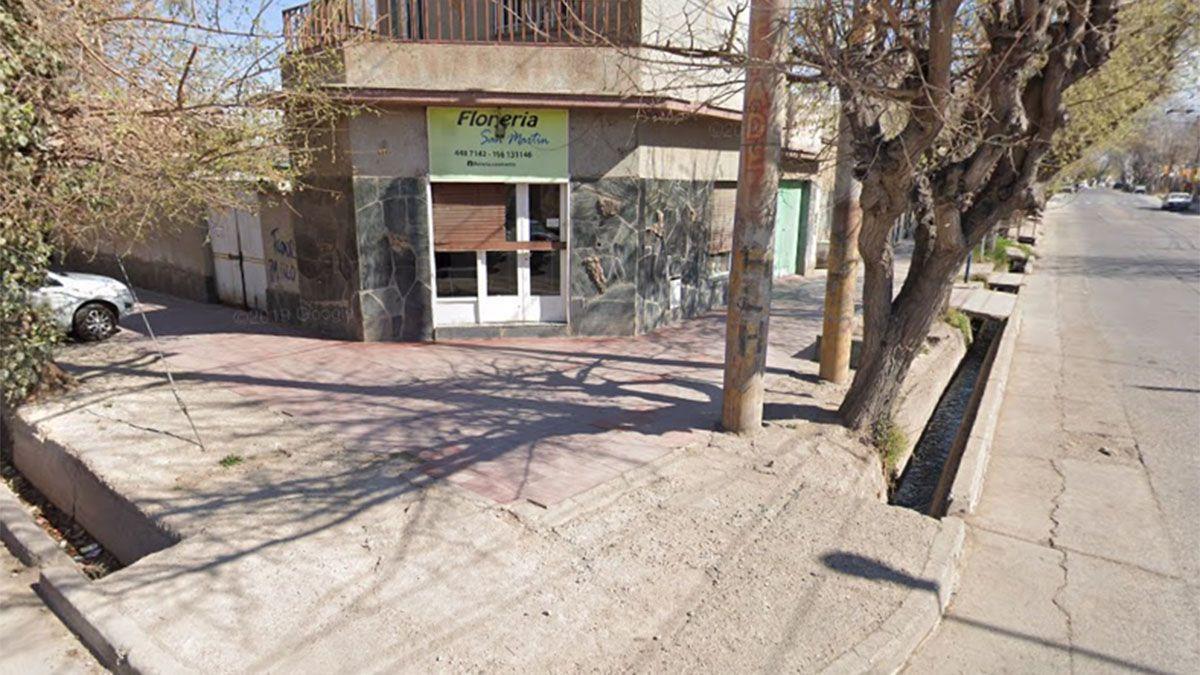 La zona de Las Heras donde ocurrió el asesinato.
