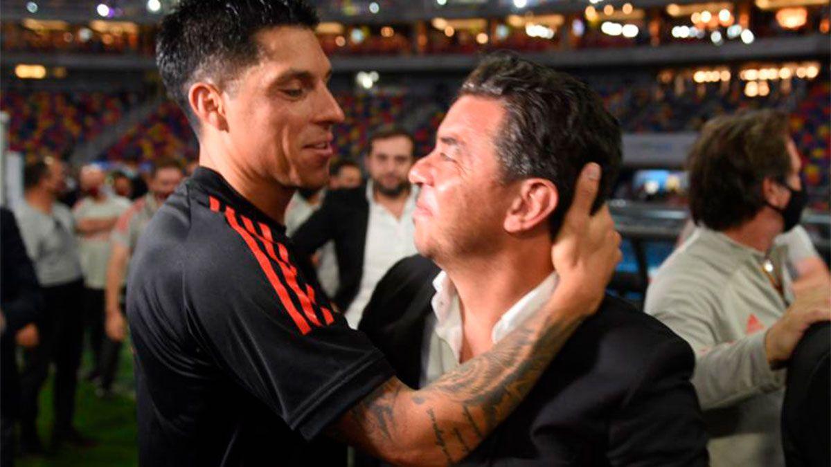 El te amo tras el abrazo entre Enzo Pérez y Gallardo