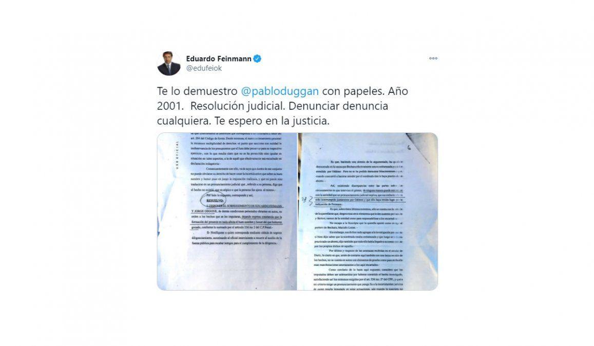 Duggan y Feinmann se cruzaron feo: Me decís pedófilo y vos abusás sexualmente a las mujeres