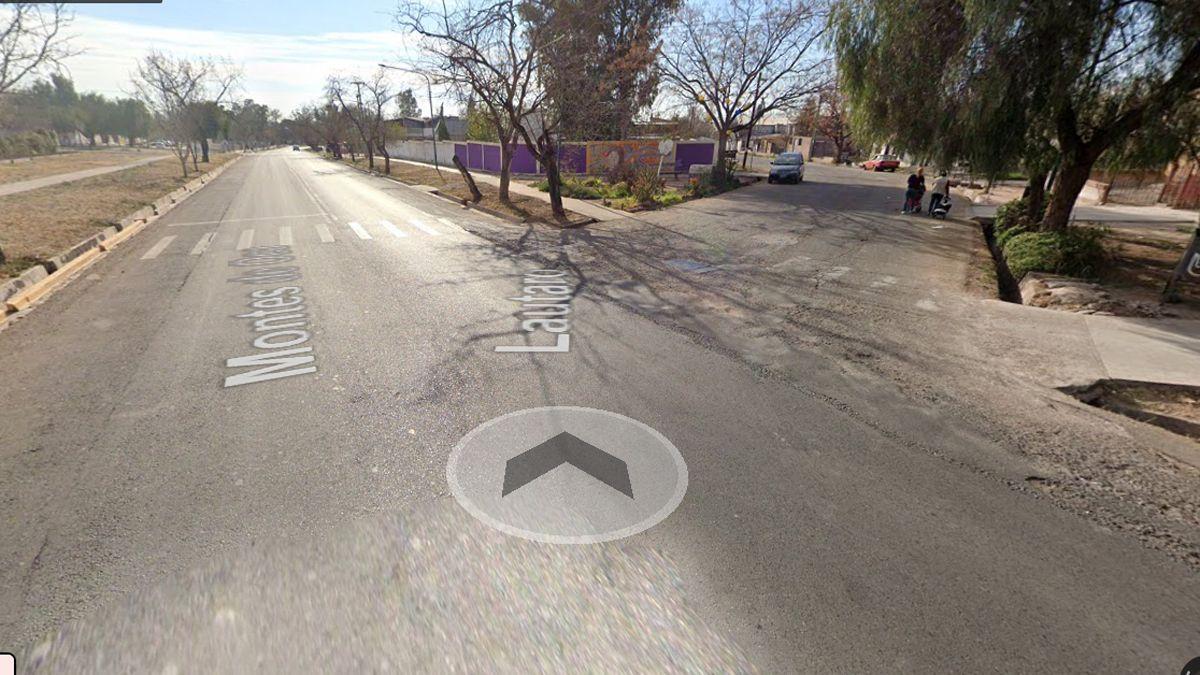 En esta esquina se produjo el accidente de moto.