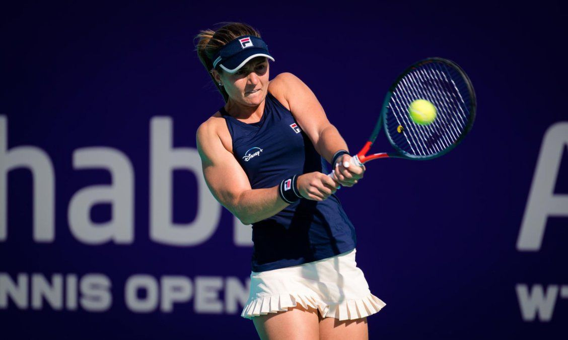 Nadia Podoroska perdió en su debut en Abu Dhabi