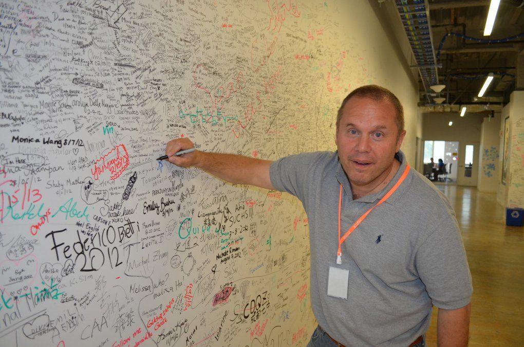 Murió el gran gurú informático Mariano Soler. Tenía 53 años. En esta foto de septiembre de 2013