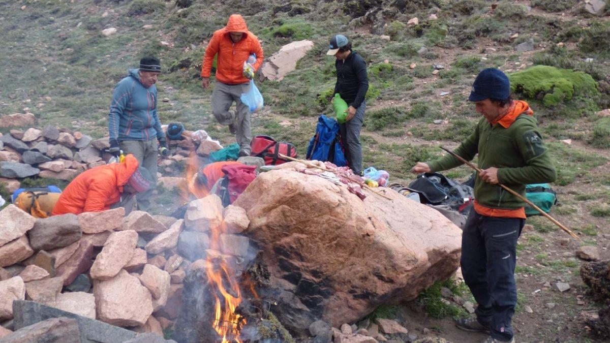 El primer campamento base fue en un lugar perfecto