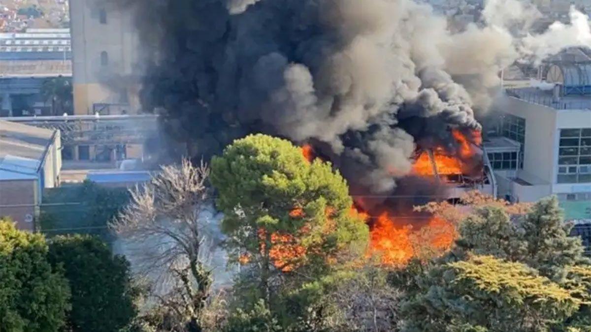 Video: Incendio en la cervecería Quilmes en Buenos Aires