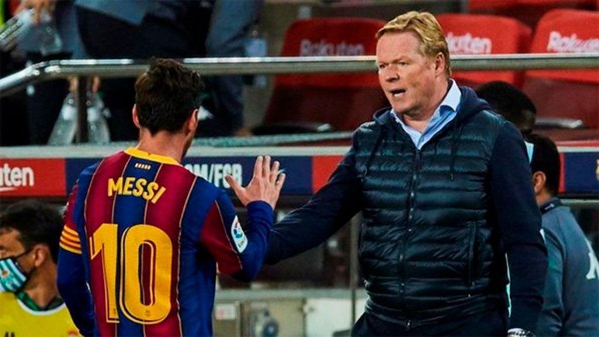 Koeman y una frase picante sobre la posible partida de Messi