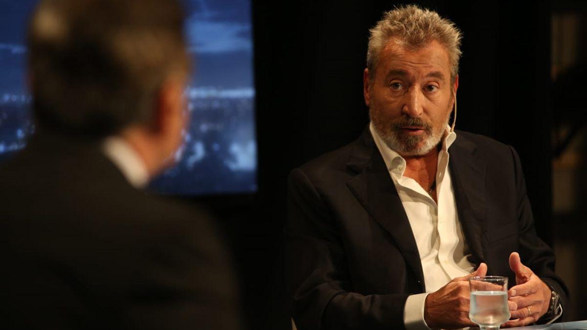 El empresario Daniel Vila durante la entrevista con Carlos Hernández