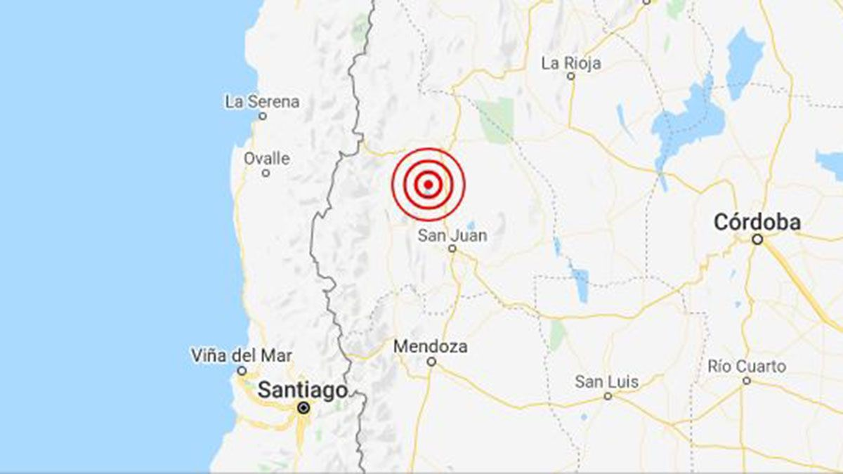 Tembló en San Juan y se sintió fuerte en Mendoza