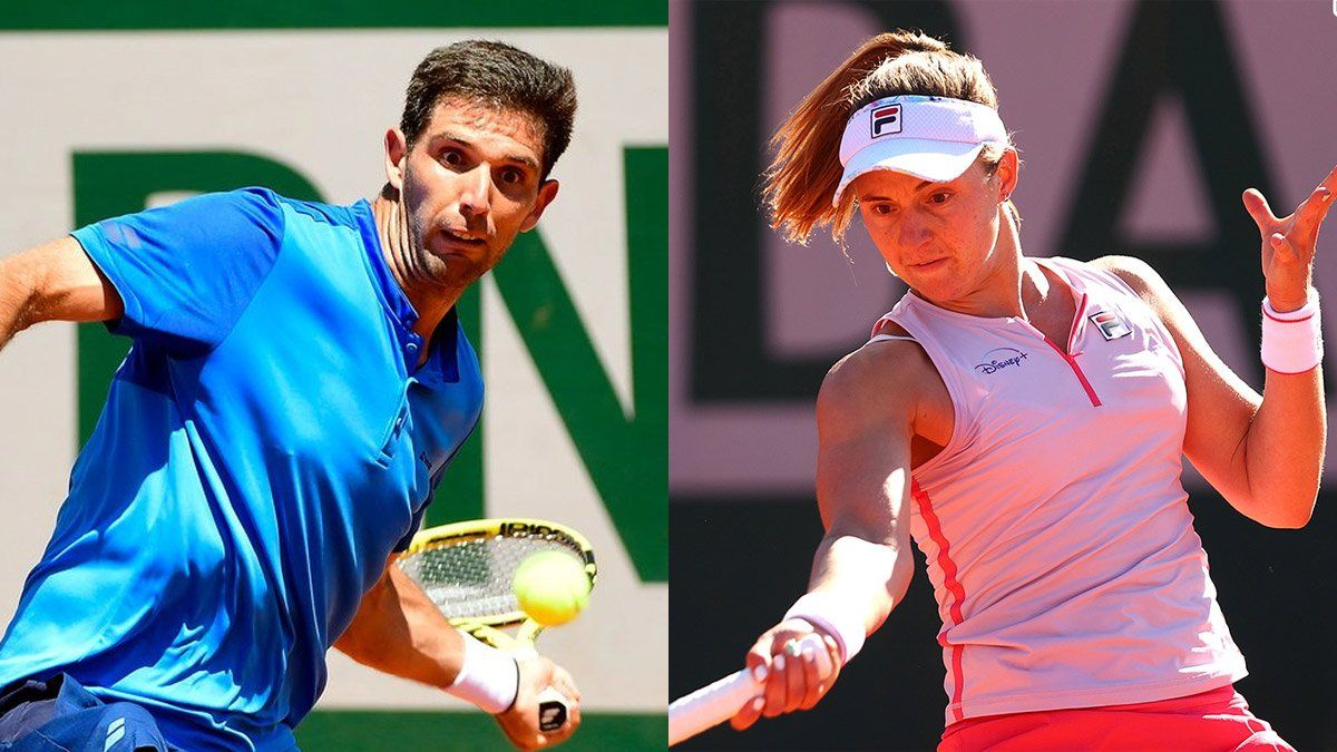 Delbonis avanzó y Podoroska tropezó en Roland Garros