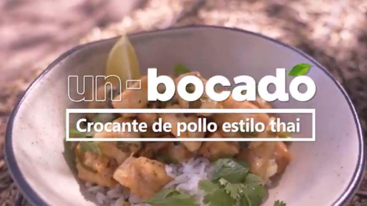 Receta: Crocante de pollo estilo thai