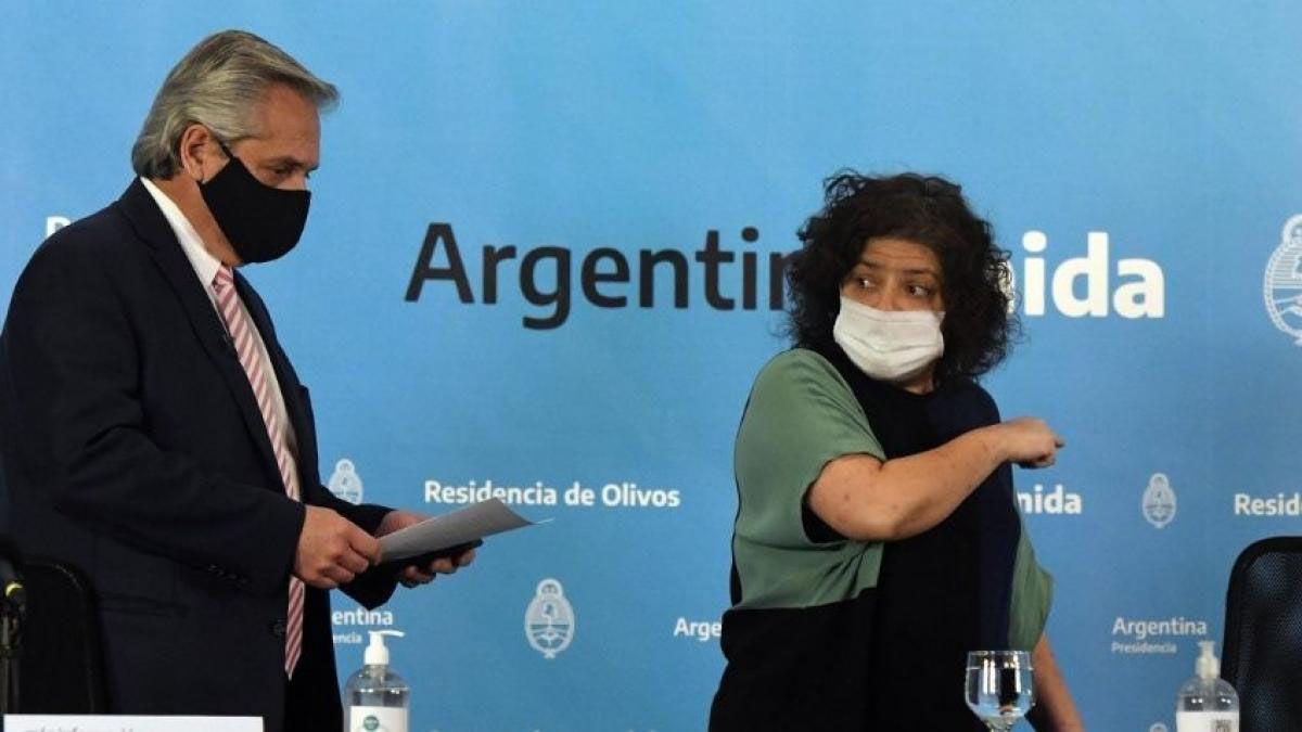 Alberto Fernández y Carla Vizzotti. Amplían el Presupuesto para que Salud tenga recursos para enfrentar la pandemia.