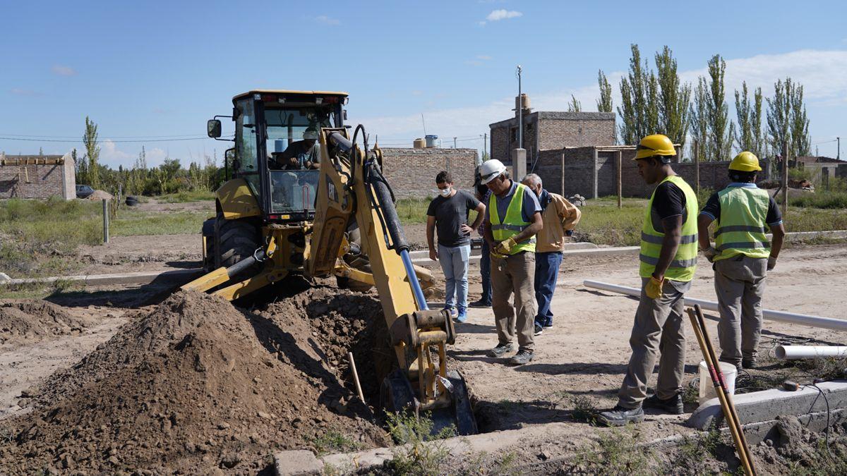 Rivadavia se encuentra trabajando en la actualidad en la ampliación de la red de cloacas.