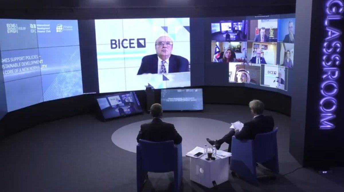 El titular del BICE participó del encuentro internacional junto a otros referentes de bancos de desarrollo.
