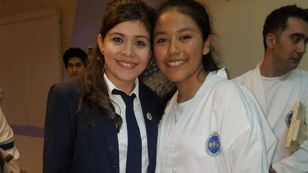 Rocío Cruceño, la mendocina que se destaca en taekwondo