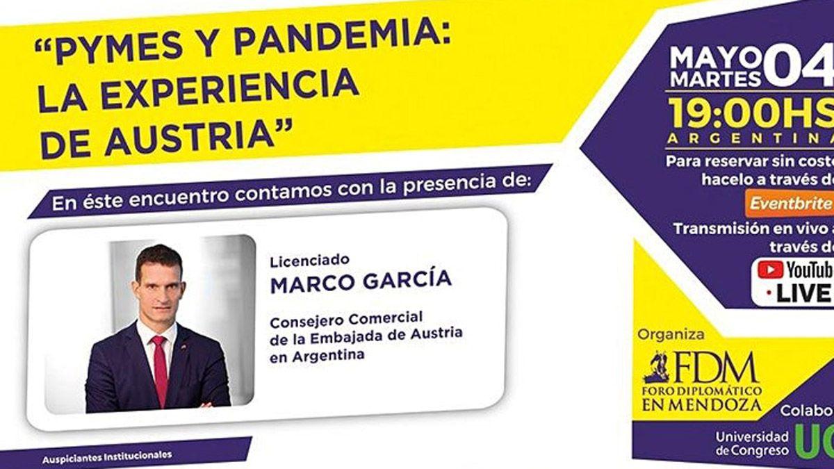 El Foro Diplomático Mendoza organiza el ciclo Post Pandemia y Pymes