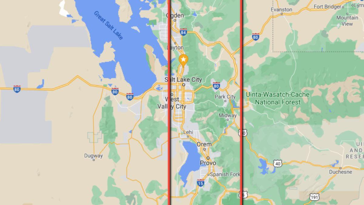 Este es el mapa suministrado por los organizadores de la Búsqueda del Tesoro, donde delimitan la zona donde puede estar el tesoro con 10 mil dólares.