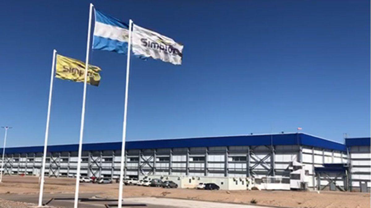 La planta para el procesamiento de las papas prefritas congeladas se encuentra en Cacheuta