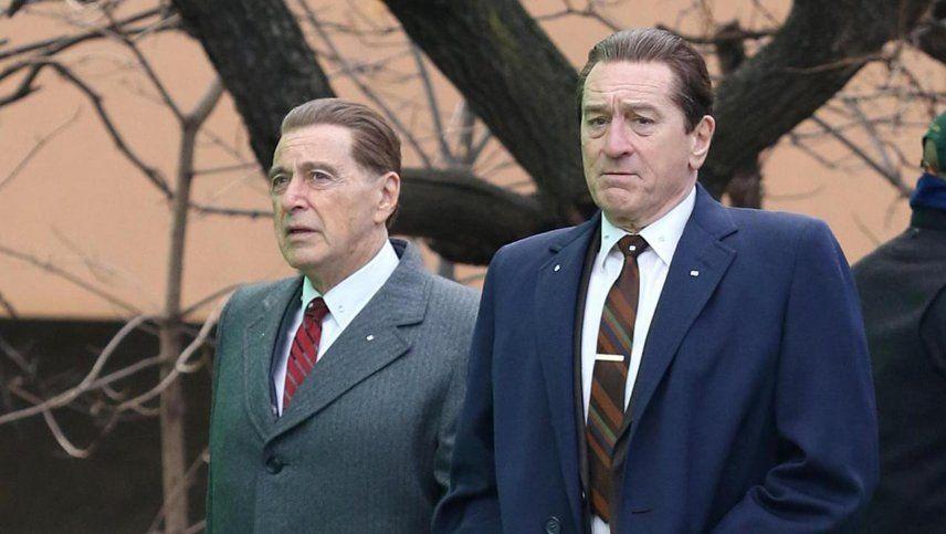 Netflix mostró un adelanto de The Irishman con De Niro, Al Pacino y la dirección de Scorsese