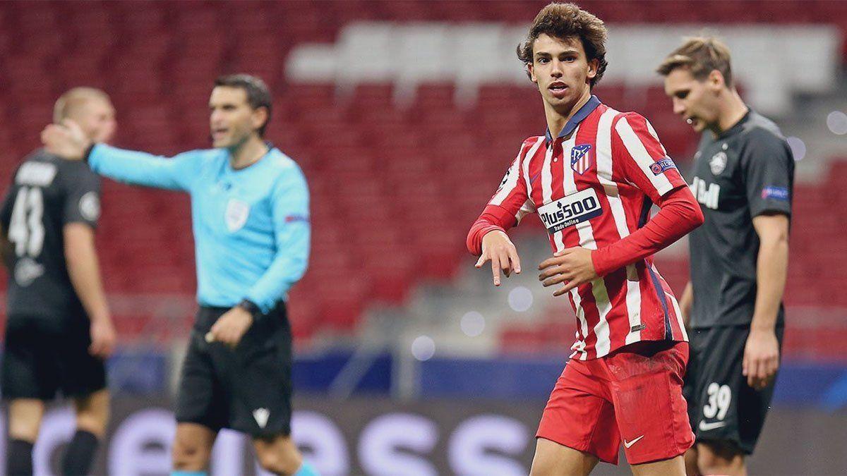 Joao Félix marcó un doblete en el triunfo de Atlético de Madrid