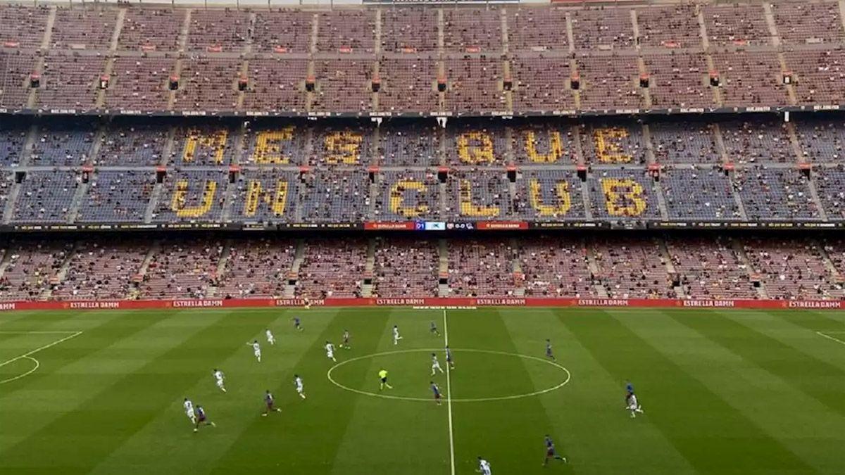 Los hinchas del Barcelona aún no pueden digerir la partida de Messi.