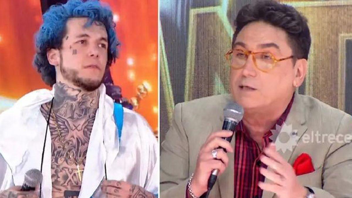 Cantando 2020: el fuerte cruce entre Alex Caniggia y Oscar Mediavilla.