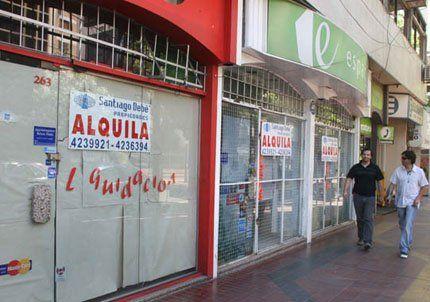 El 60% de los locales de las galerías comerciales cerraron.