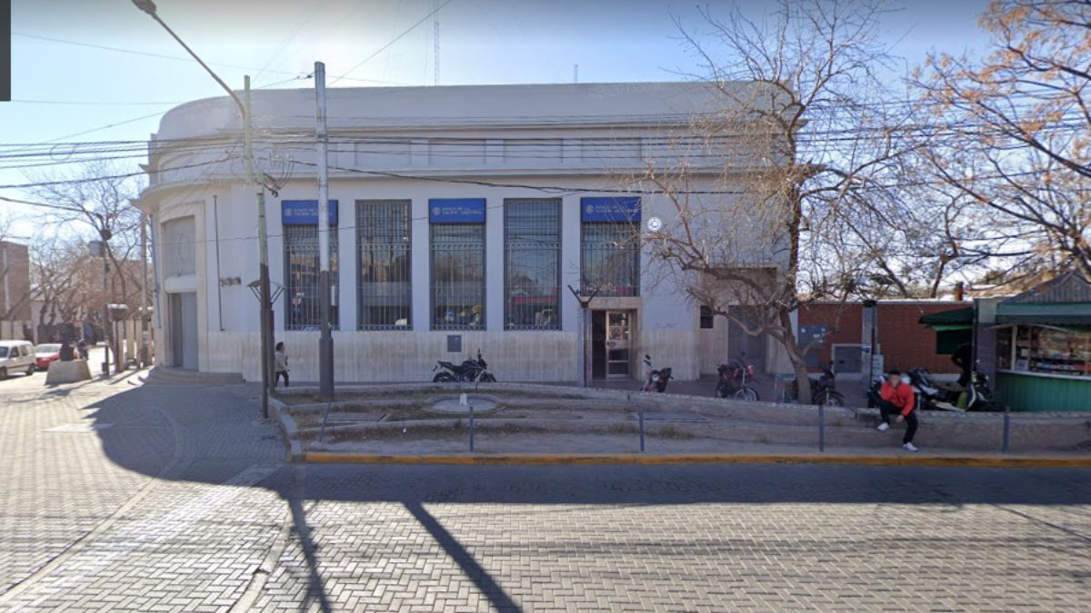 La sucursal de Banco Nación ubicada en Villa Nueva.
