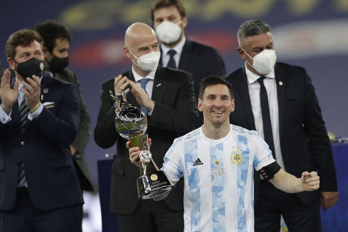 Leo Messi fue el goleador de la Copa América 2021.