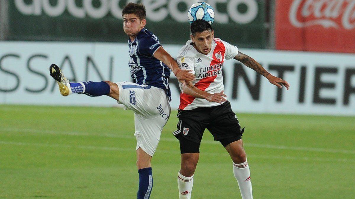 Tomás Badaloni convirtió un gol en el partido ante River Plate.