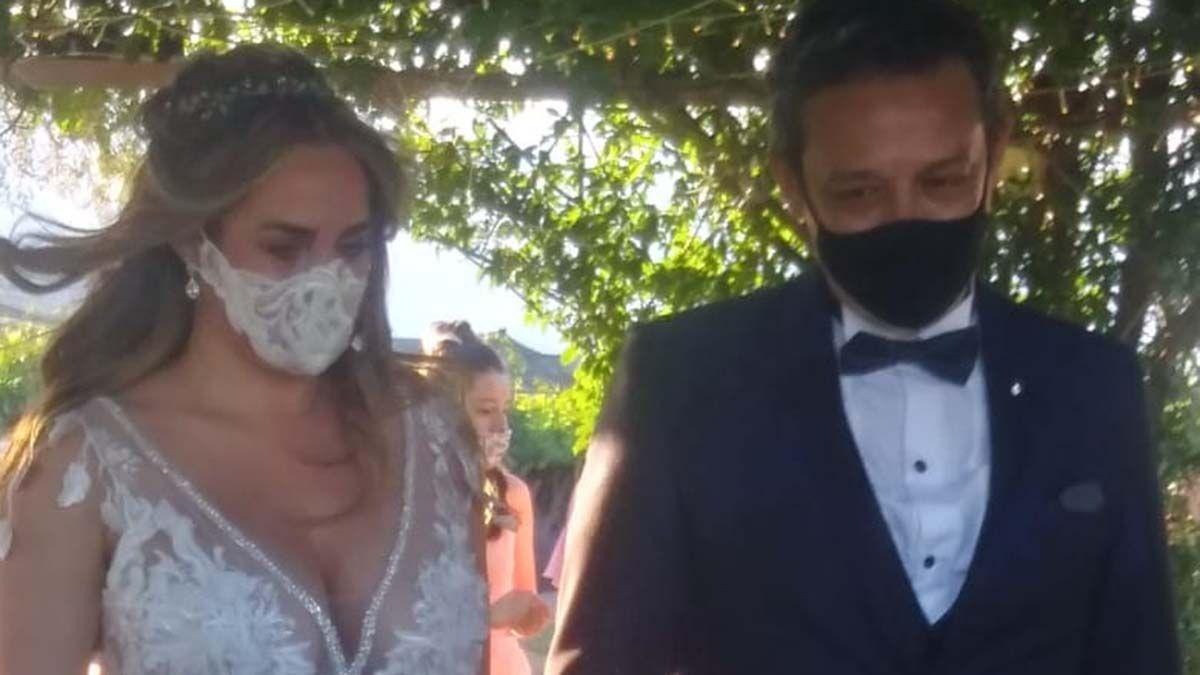 Belén Francese se casó con Fabián Lencinas.