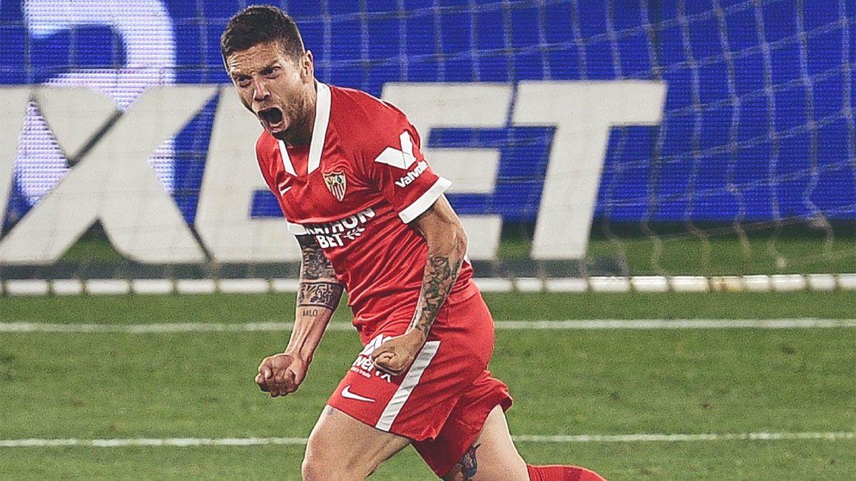 Sevilla le ganó al Celta de Coudet con un gol de Papu Gómez