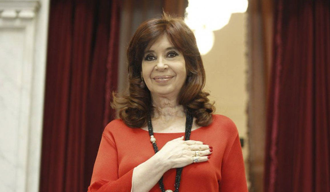 La vicepresidenta Cristina Kirchner.