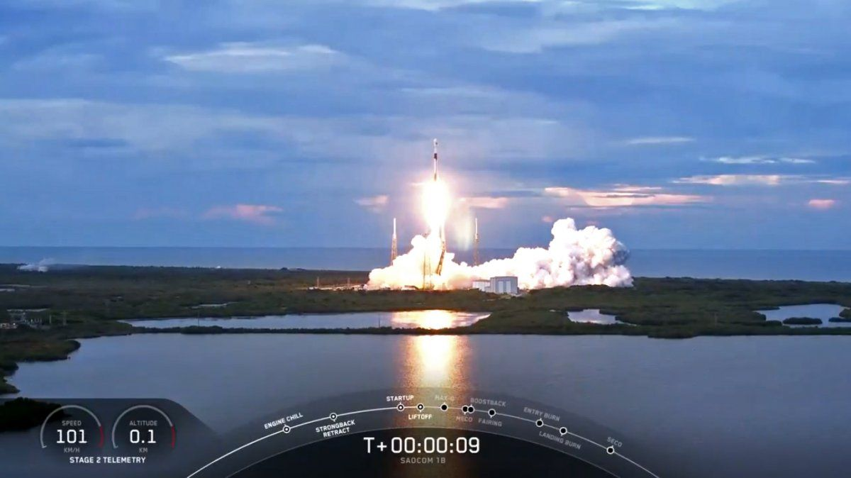 El satélite argentino Saocom 1B