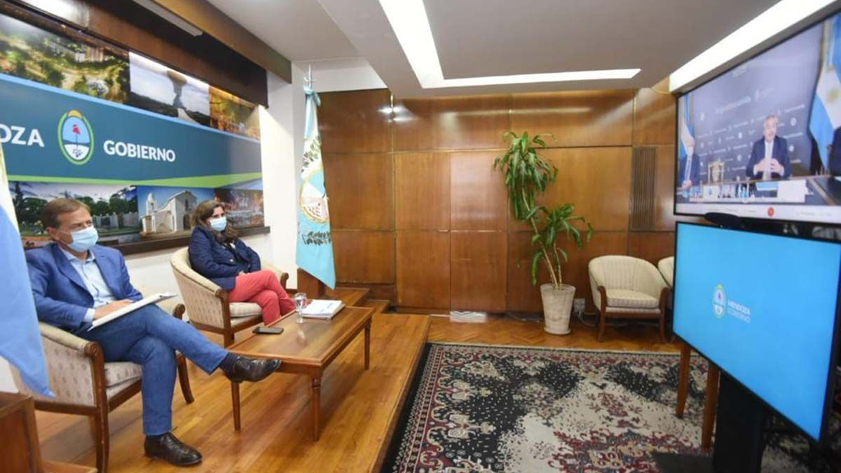 Tras la reunión de Rodolfo Suarez con el presidente Alberto Fernández