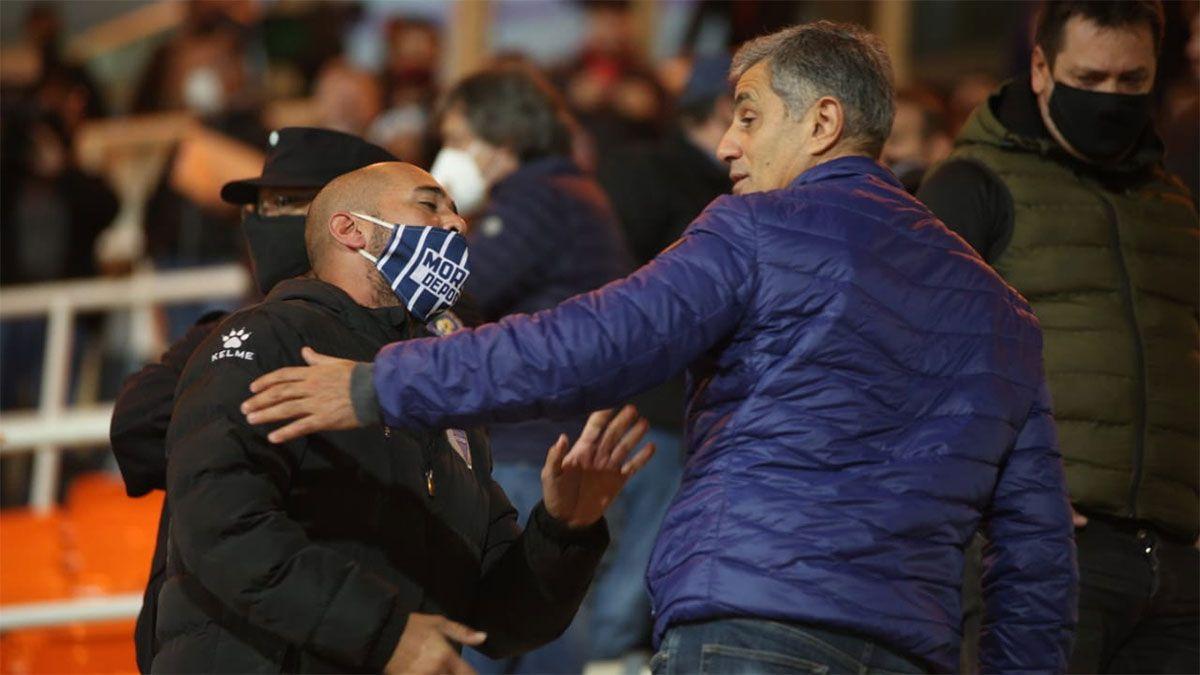 José Mansur fue increpado por un allegado de Godoy Cruz