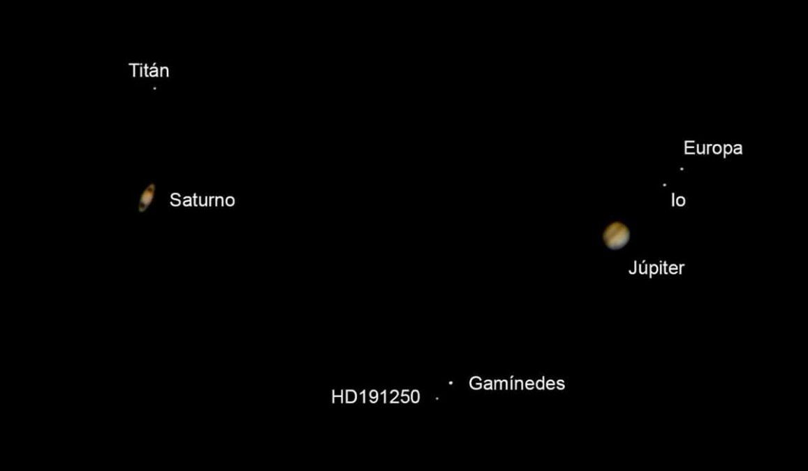 Así se vio la Estrella de Belén, conjución Júpiter y Saturno