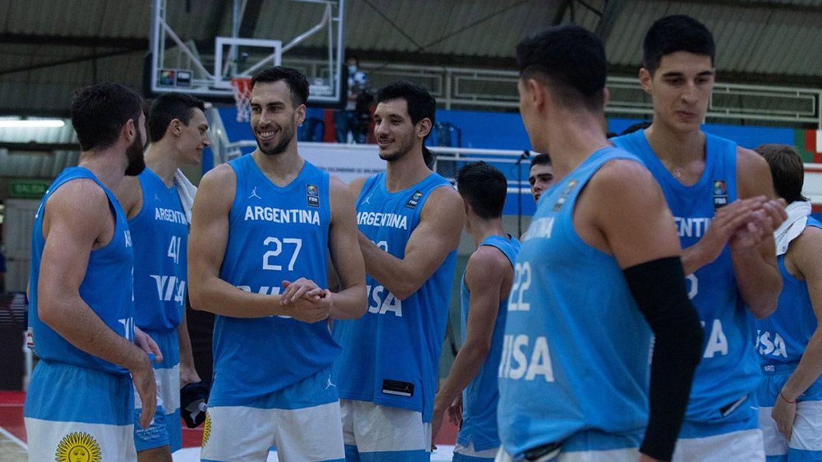 Argentina ganó y se clasificó a la AmeriCup de básquetbol