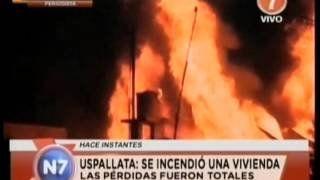 Un incendio destruyó por completo una vivienda de Uspallata