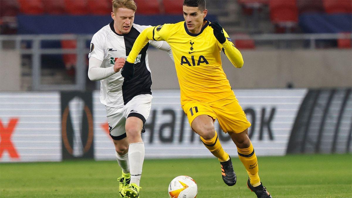 Tottenham, con Lamela, puso un pie en los octavos de final