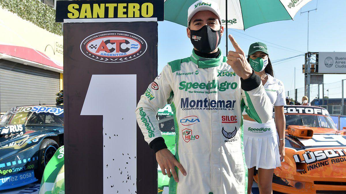 Julián Santero se quedó con su primera pole en el TC