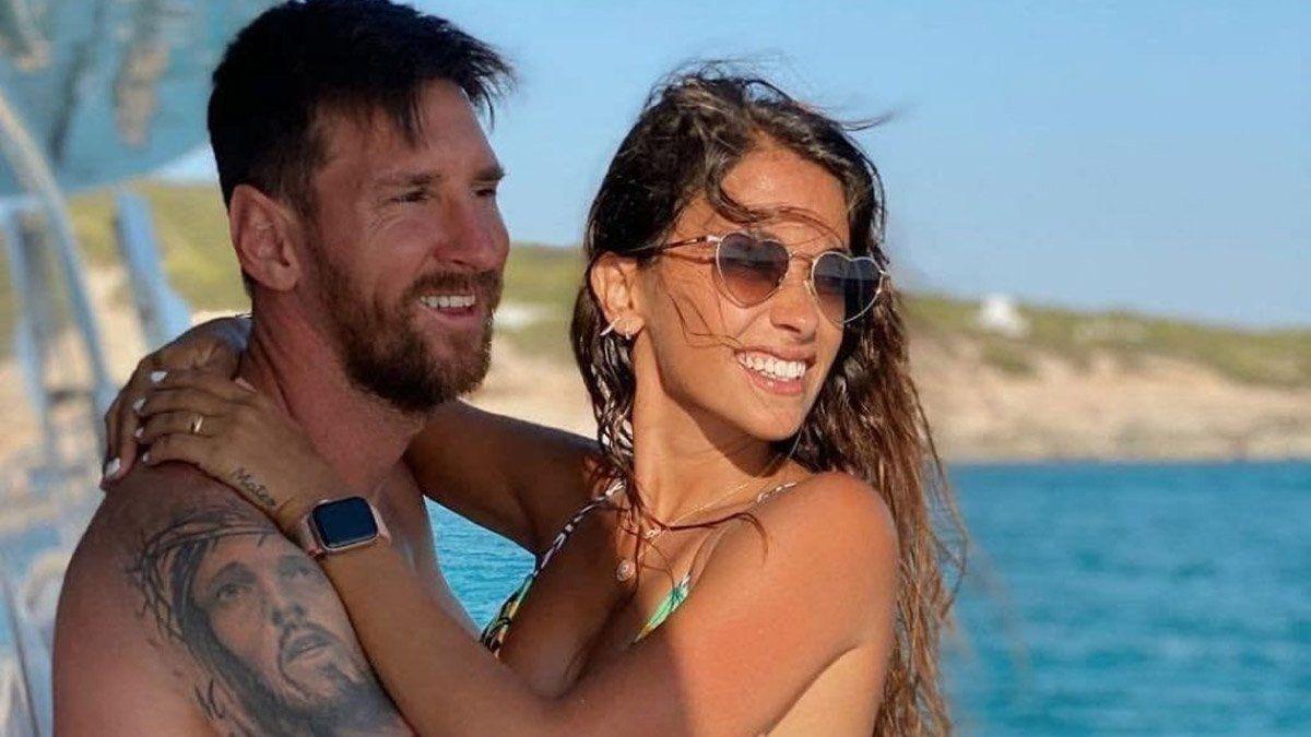 Antonela Roccuzzo y Messi, en su íntimo momento del día