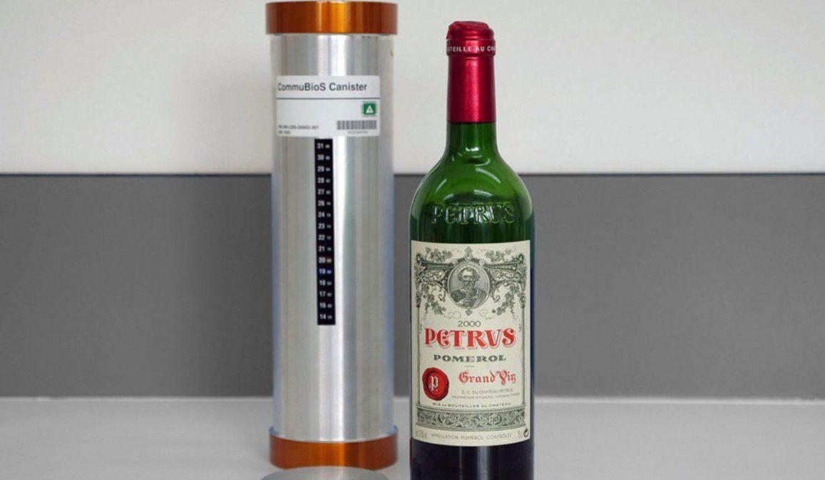 La botella de vino Petrus estvo 14 meses en el espacio y podría ser vendida en U$S un millón